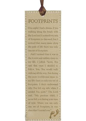 Picture of Bookmark - Footprints - Lux Lth